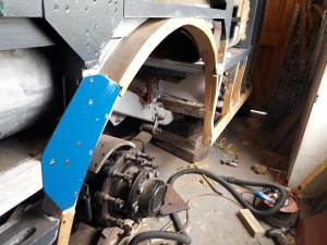 New wheelarch timbers and steel flitch plate
